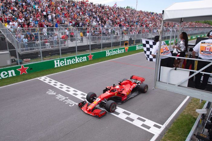 Sebastian Vettel delivers solid win for Ferrari at Hamilton's hunting ground in Canada 4