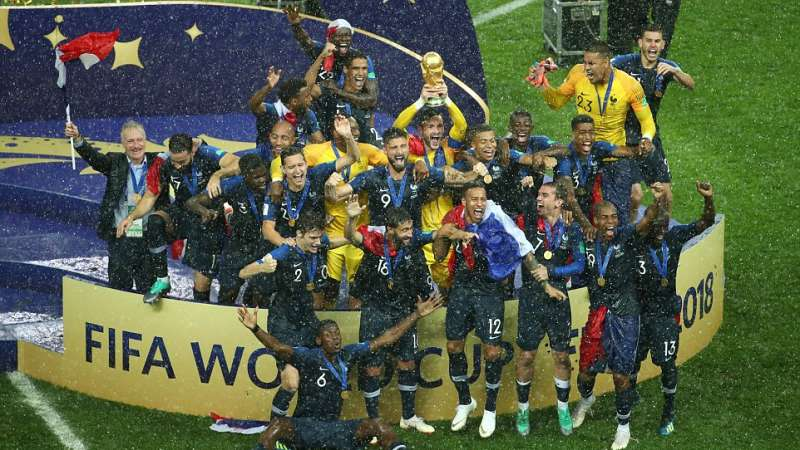 France win the World Cup 2018 after defeating Croatia 4-2 (Image: pulse.ng)