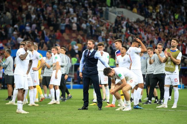 England, after the loss to Croatia (Image: Carrick Herald)
