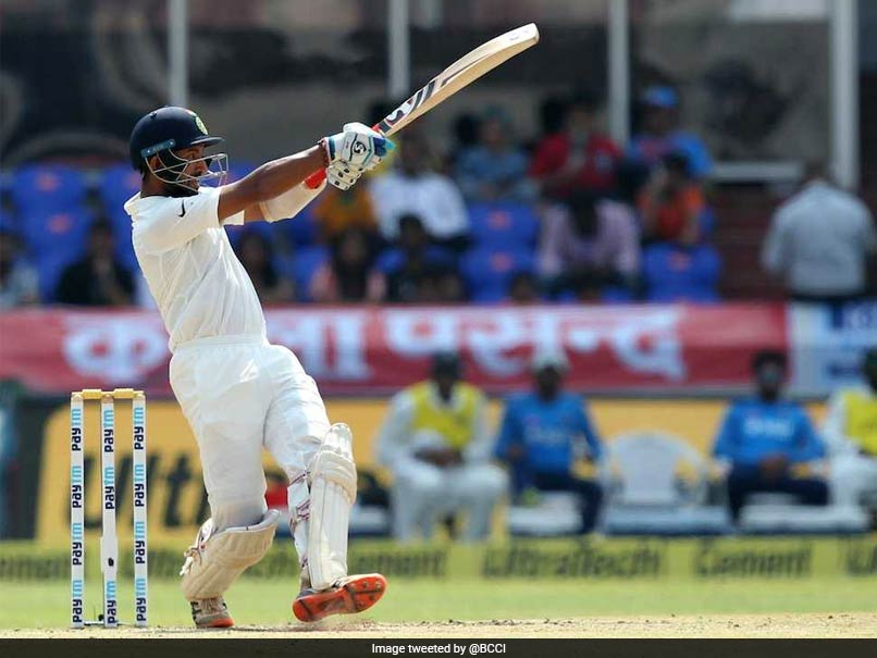 Pujara took India past England's total (Image: sports.ndtv)