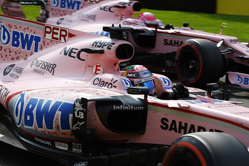 Sahara Force India will not be seen anymore as the team is renamed to Race Point Force India (Image: Autosport)