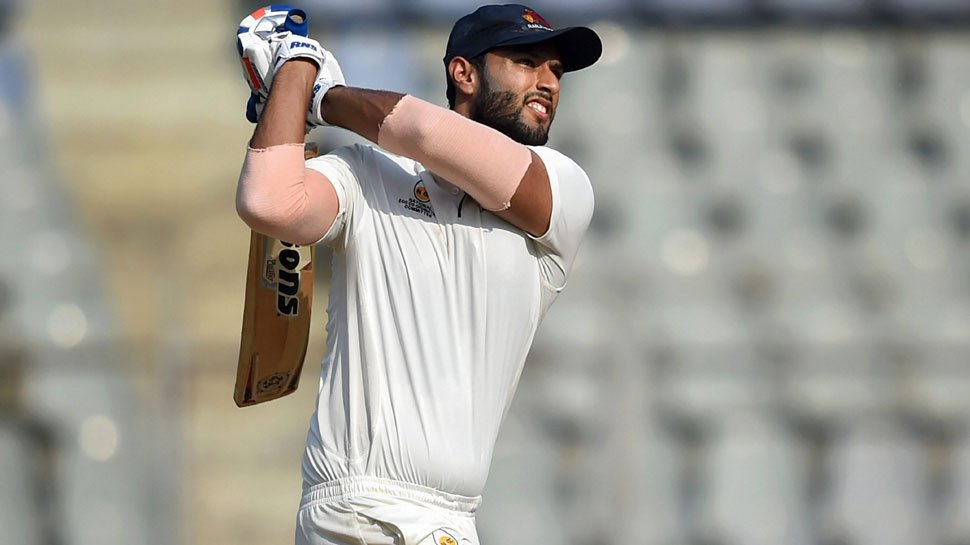 Shivam Dube in action for Mumbai in the Ranji Trophy (Image: Twitter @HT