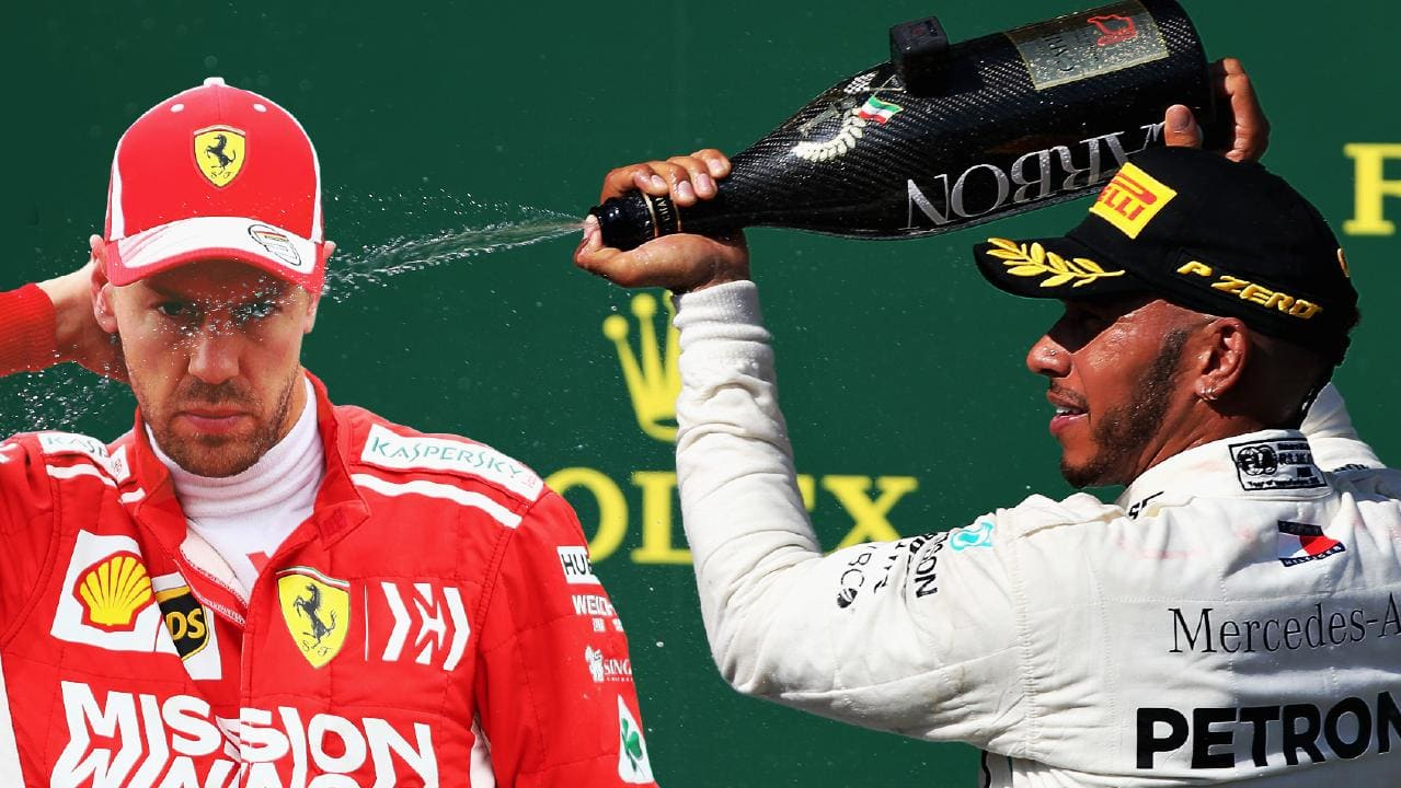 Sebastian Vettel lost the world championship to a Mercedes,, again (Image: Fox Sports)