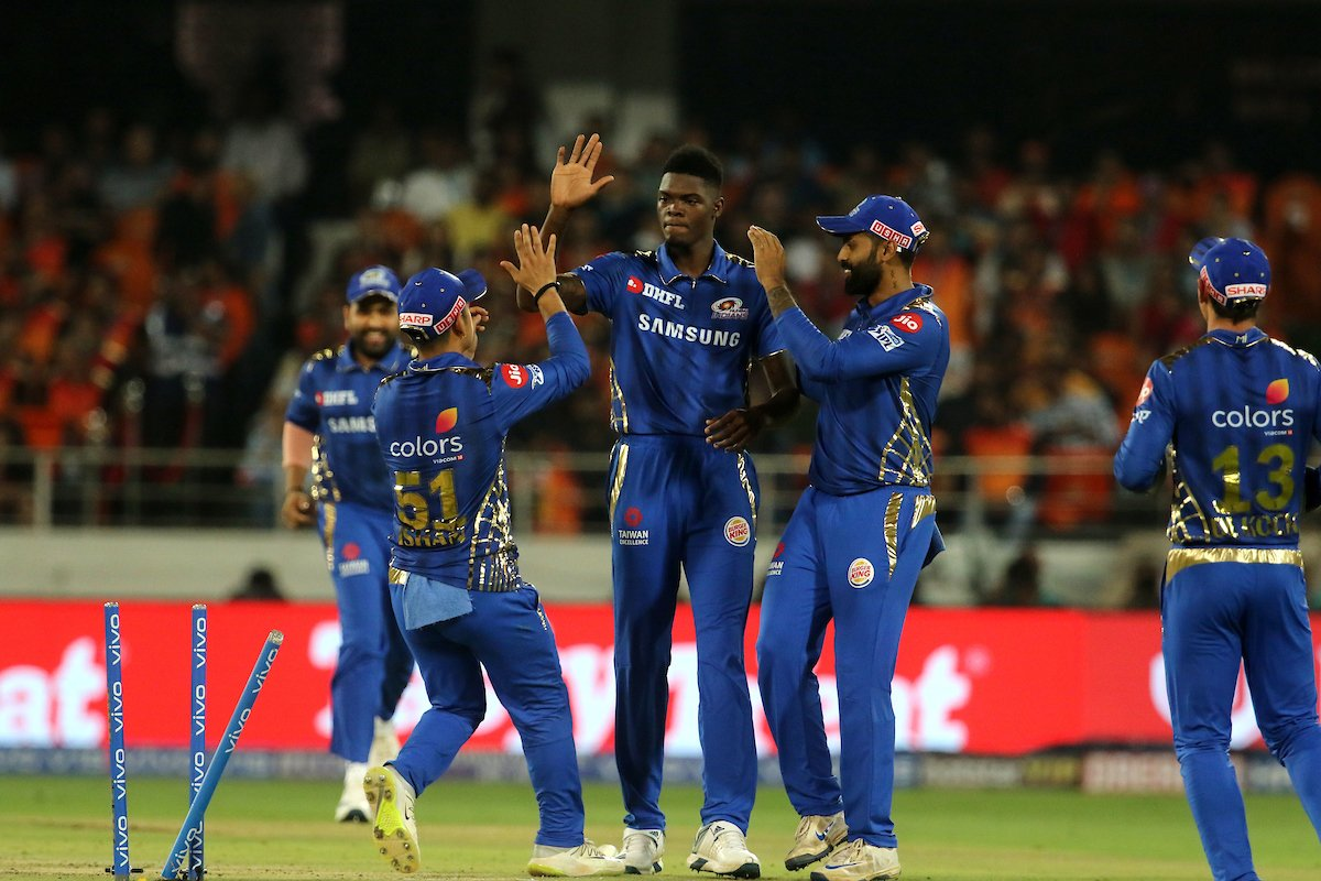 Alzarri Joseph registered a match-winning spell of 6/12. (Image: Twitter @IPL).
