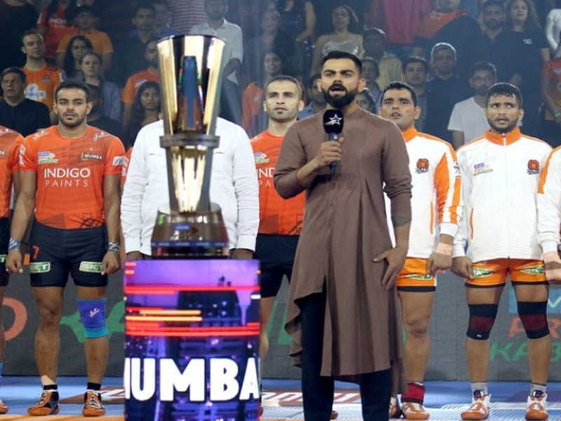 Virat Kohli in VIVO Pro Kabaddi League 2019