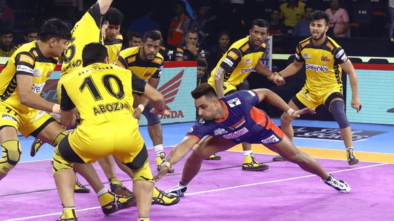Pro kabaddi league latest point table