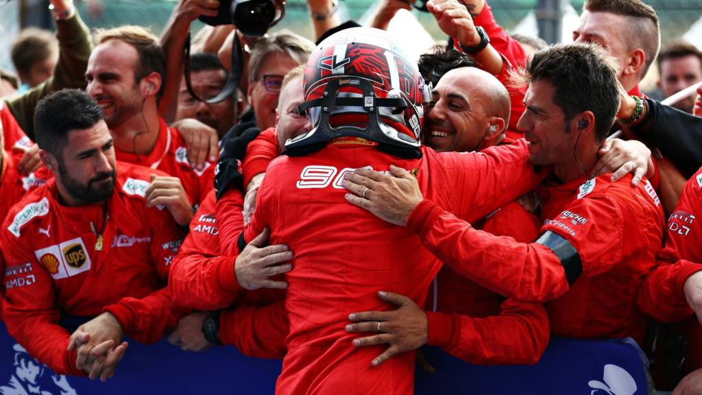 Charles Leclerc's first race win