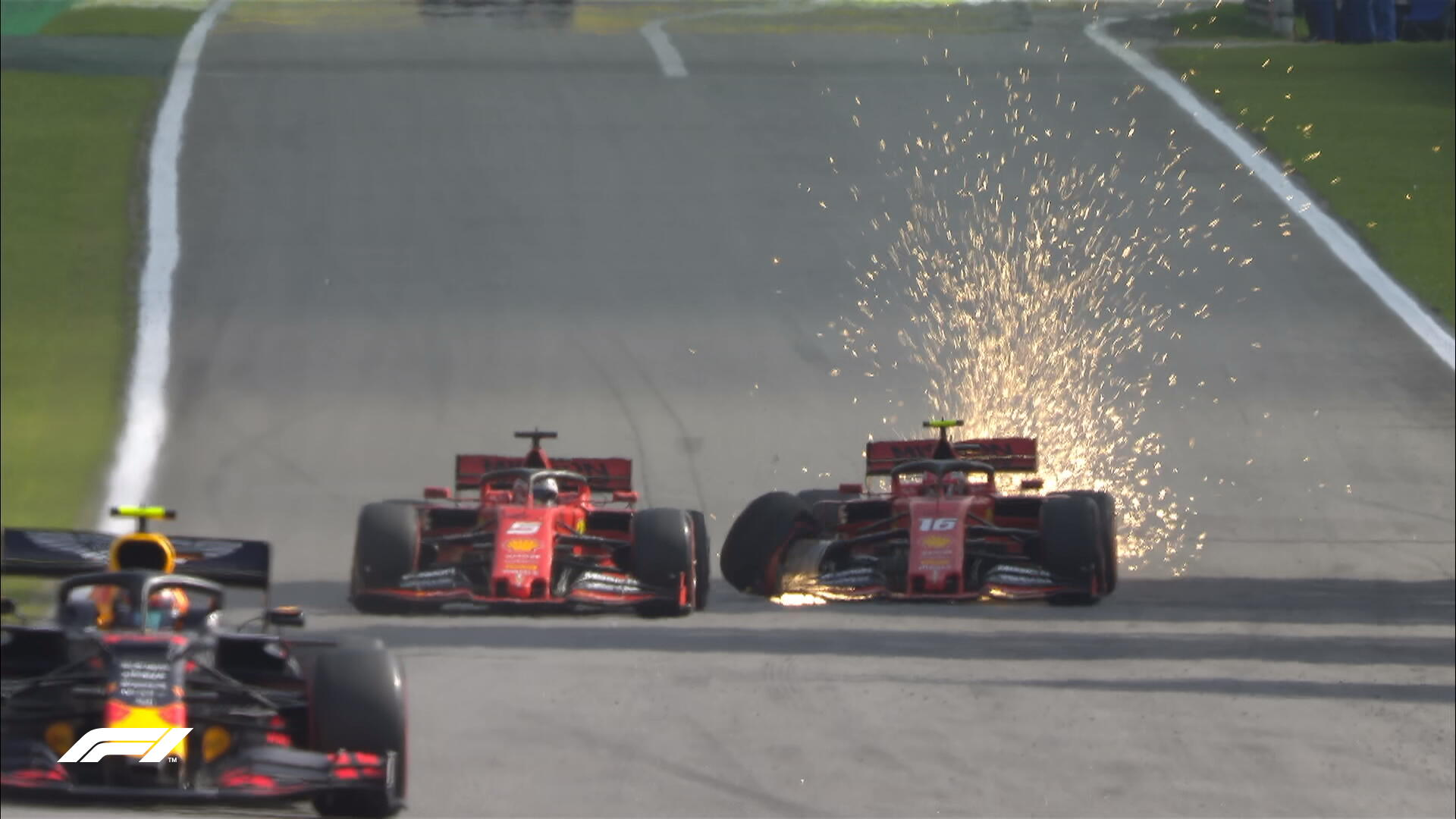 Vettel and Leclerc collision at Brazil