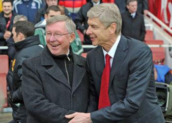 Sir Alex Ferguson with Arsene Wenger