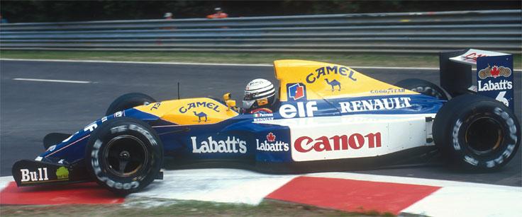 Riccardo Patrese in an F1 race