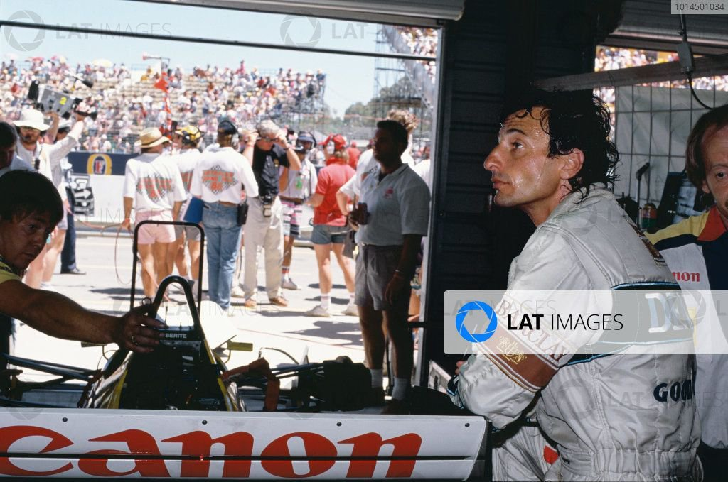 Riccardo Patrese exhausted after a race