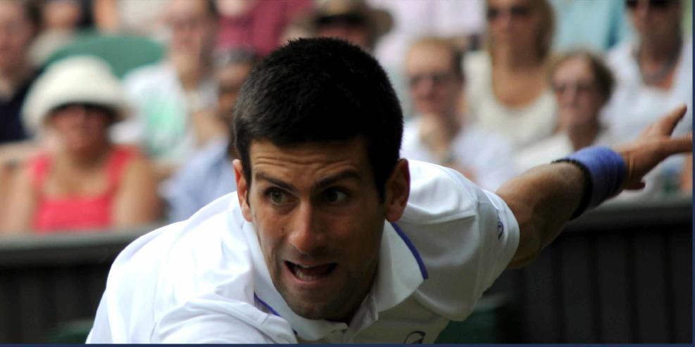 Novak Djokovic during Wimbledon Semi-Final 2011