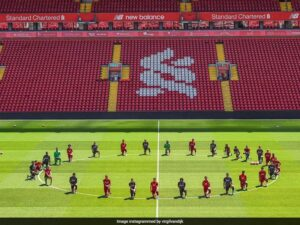 Liverpool players take knee in support of black Live Matter movement
