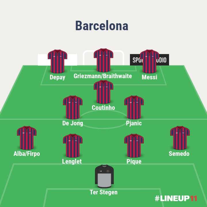 3 ways Barcelona could line up with Memphis Depay 2