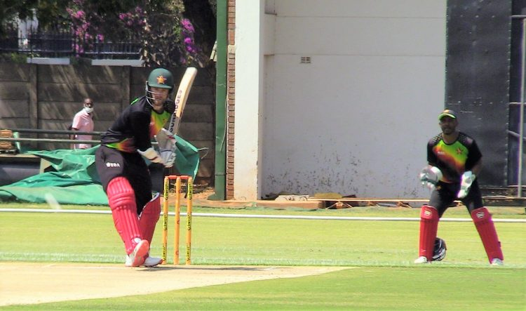 Zimbabwe team playing a practice game ahead of their upcoming tour of Pakistan (Credits: Twitter| Zimbabwe Cricket)