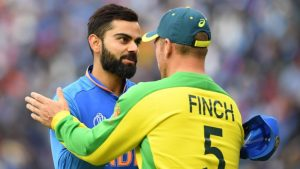 Virat kohli & Finch During India vs Australia 2nd ODI Series