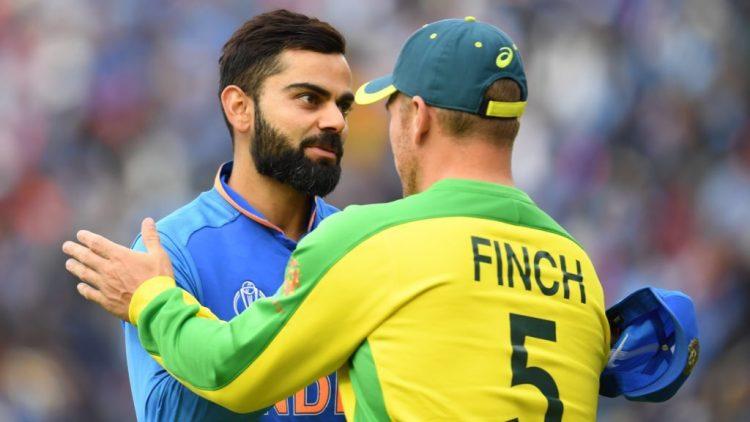 Virat kohli & Finch During India vs Australia 2nd ODI Series